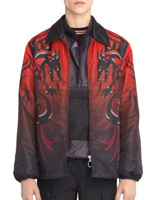 "NYLON ""DRAGON TRIBAL"" JACKET"