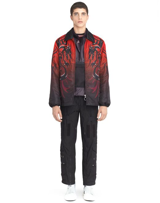 "lanvin nylon ""dragon tribal"" jacket men"