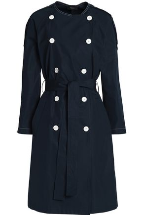 THEORY Belted cotton-twill coat