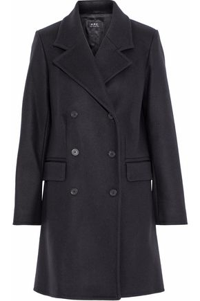 A.P.C. Double-breasted wool-blend felt coat