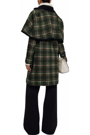 M MISSONI Metallic checked cape-effect coat