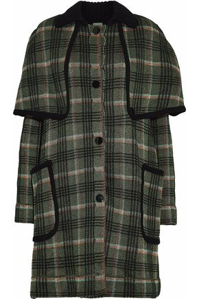 M MISSONI Metallic checked cape-effect coat