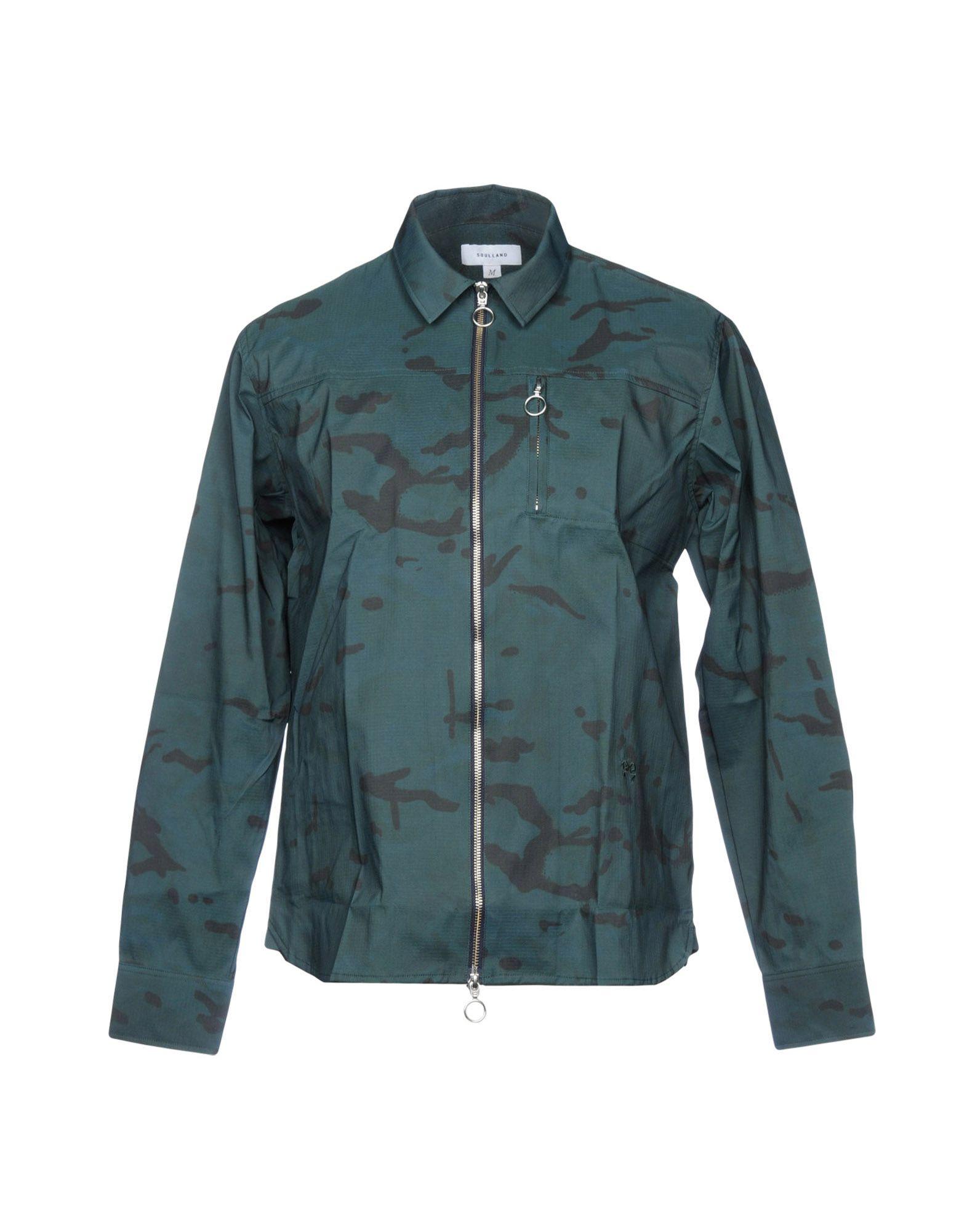 SOULLAND Jacket in Dark Green