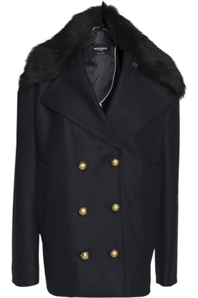 ROCHAS Double-breasted wool-blend coat