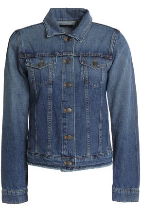THEORY Frayed faded denim jacket