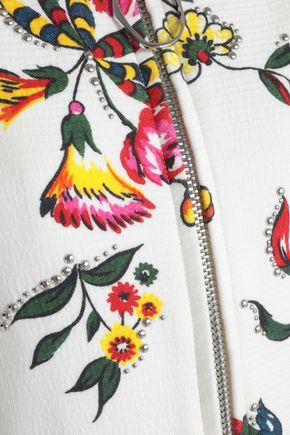 3.1 PHILLIP LIM Studded floral-print cotton-blend coat