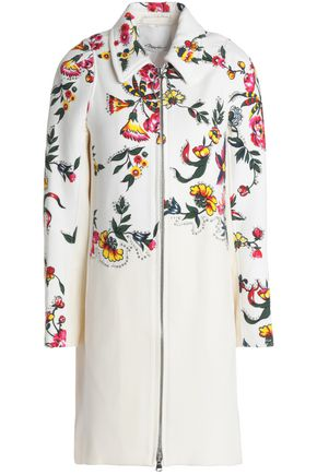3.1 PHILLIP LIM Studded floral-print cotton-blend coat