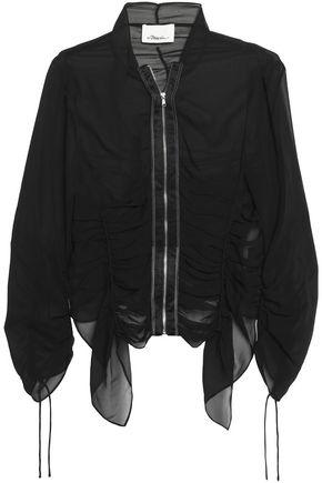 3.1 PHILLIP LIM Ruched draped silk-georgette blazer