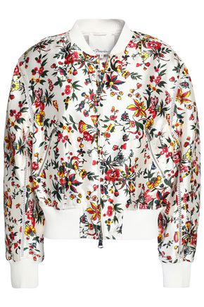 3.1 PHILLIP LIM Floral-print silk and cotton-blend bomber jacket