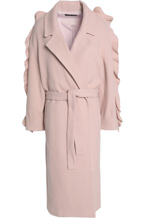 MOTHER OF PEARL Ruffled wool-blend coat