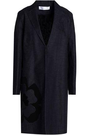 VICTORIA, VICTORIA BECKHAM Floral-appliquéd denim coat