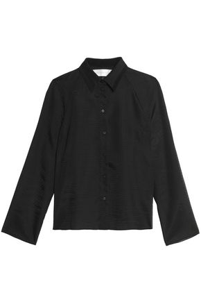 VICTORIA, VICTORIA BECKHAM Embroidered wool top