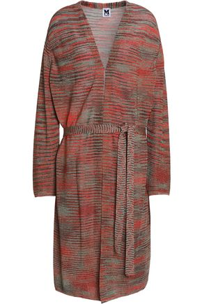 M MISSONI Belted crochet-knit cardigan