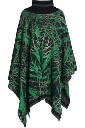 M MISSONI Metallic printed wool-blend  cape