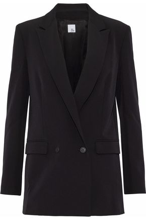 IRIS & INK Double-breasted crepe blazer