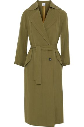 IRIS AND INK Maggie Tencel-twill trench coat