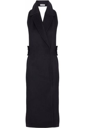 JIL SANDER Open-back wool and cashmere-blend felt halterneck vest