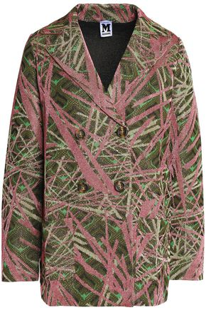 M MISSONI Double-breasted metallic-knit blazer