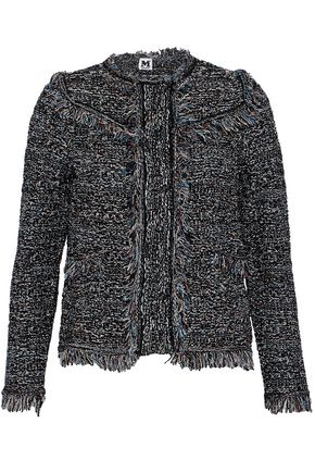 M MISSONI Fringed metallic cotton-blend bouclé jacket