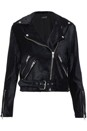 W118 by WALTER BAKER Cotton-velvet biker jacket