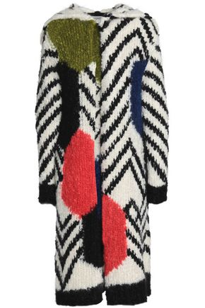 VALENTINO Mohair-blend bouclé hooded coat