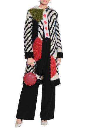 VALENTINO Mohair-blend bouclé hooded coat