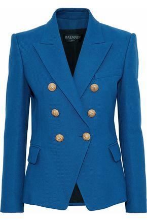 BALMAIN Double-breasted cotton blazer