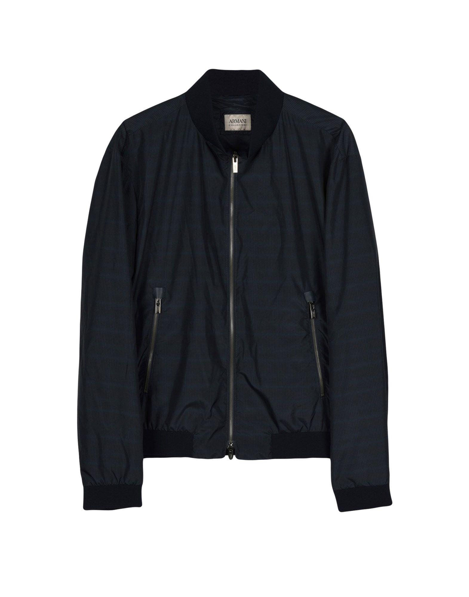 ARMANI COLLEZIONI Куртка куртка бомбер короткая в полоску с вышивкой 100