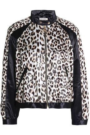 NINA RICCI Paneled leopard-print satin jacket