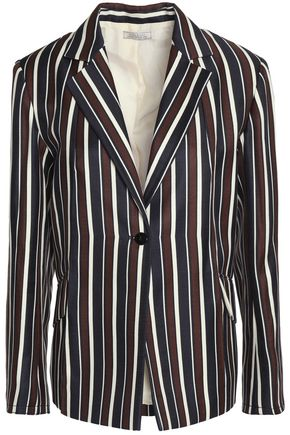 NINA RICCI Striped wool and silk-blend twill blazer