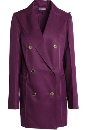 NINA RICCI Double-breasted wool and silk-blend twill jacket