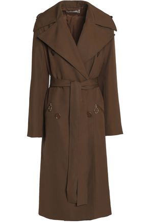 NINA RICCI Double-breasted wool and silk-blend trench coat