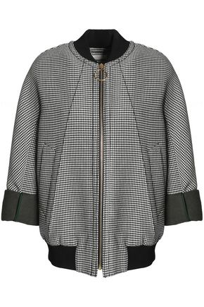 NINA RICCI Houndstooth cotton-blend bomber jacket