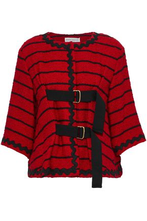 SONIA RYKIEL Striped cotton-blend bouclé jacket