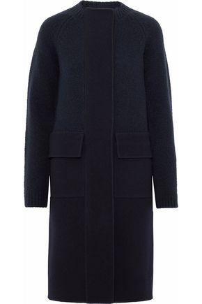 JIL SANDER Paneled brushed wool-blend and bouclé coat