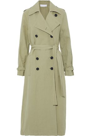 ROBERT RODRIGUEZ Double-breasted cotton and linen-blend twill trench coat