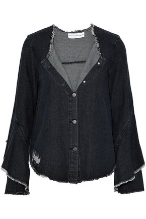 ROBERT RODRIGUEZ Layered distressed denim jacket
