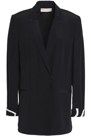 EMILIO PUCCI Double-breasted crepe de chine blazer