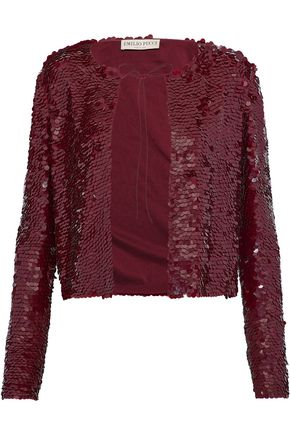 EMILIO PUCCI Sequined silk jacket