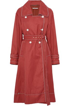 STELLA McCARTNEY Double-breasted poplin trench coat