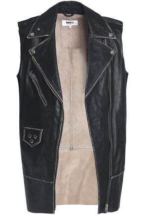 MM6 MAISON MARGIELA Studded leather biker vest