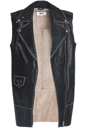 MM6 by MAISON MARGIELA Studded leather biker vest