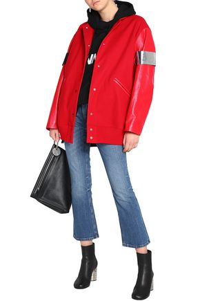 3d6f2b5cb Paneled faux leather and wool-blend bomber jacket | MM6 MAISON ...