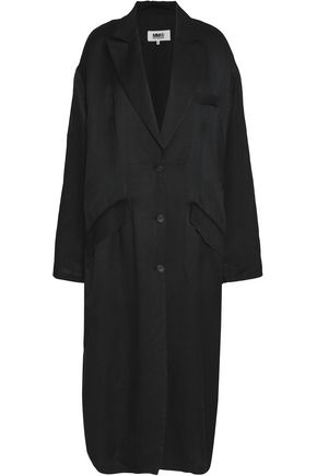 MM6 MAISON MARGIELA Silk linen-blend coat