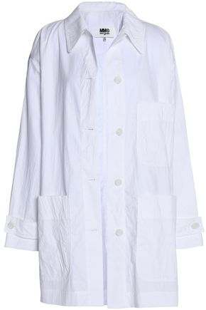 MM6 MAISON MARGIELA Crinkled cotton-poplin jacket