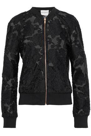 PERSEVERANCE Fil coupé organza bomber jacket