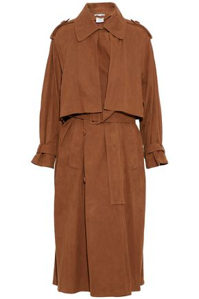 STELLA McCARTNEY Faux suede trench coat