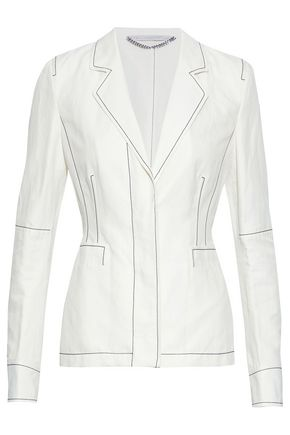 STELLA McCARTNEY Embroidered twill blazer