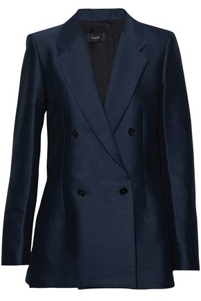 JOSEPH Double-breasted cotton and wool-blend blazer