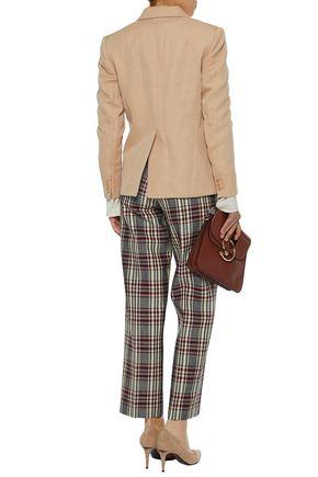 JOSEPH Ramie and cotton-blend twill blazer